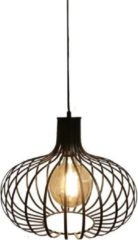 Artdelight - Hanglamp Lauren - Zwart - E27 - IP20 - Dimbaar > lampen hang | hanglamp zwart | hanglamp eetkamer | lamp