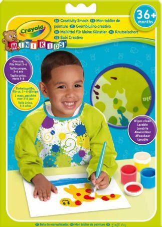 Afbeelding van Crayola Mini Kids: Verfschort Met Lange Mouwen 3-6 Jaar