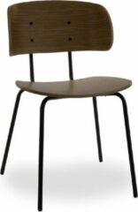 RoomForTheNew stoel m4 - eetkamer stoel - kantinestoel - stoel - chair - stoelen - eetkamer stoelen - kantine stoelen - bruine stoel - stoel bruin
