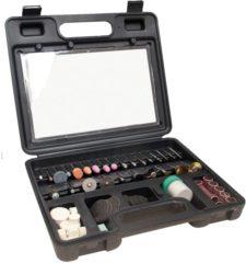 Zwarte FERM CTA1007 Combitoolset - Accessoire set voor roterende multitool - Universeel - 100-delig