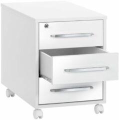 Bermeo Ladeblok Jones 59 cm hoog - Wit met hoogglans wit