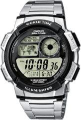 Zilveren Casio Ae-1000Wd-1Avef - Horloge - 43.7 mm - Staal - Zilverkleurig