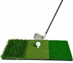 Groene Firsttee LUXE Chippingmat - GRATIS rubberen tee - Golf accessoires - Oefenmat - Oefen Swing - Mat - Golfballen - Golfmat afslaan - Sport - Training - Afslagmat - Cadeau - Putting - Net - Golftrainingsmateriaal - Trainingsmaterialen - Matje - Matten