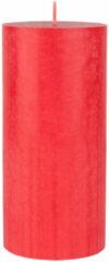 Duni Rode Cilinderkaarsen/stompkaarsen 15 X 7 Cm 50 Branduren - Geurloze Kaarsen Rood