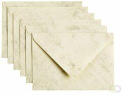 Beige Papicolor Envelop Formaat 114 X 162 Mm C6 Kleur Gemarmerd Ivoor