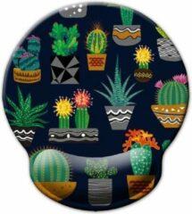 Roze Moodadventures | Muismatten | Muismat Cactussen | 25x23 cm. | Ergonomisch met Polssteun
