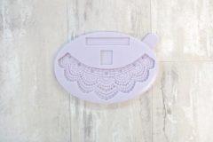 Witte Karen Davies Siliconen Mould - Art Deco Filigree