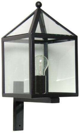 Afbeelding van Zwarte Buitenlamp Muurlamp Bloemendaal - Wandlamp - Zwart - KS Verlichting