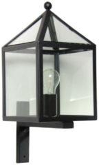 Zwarte Buitenlamp Muurlamp Bloemendaal - Wandlamp - Zwart - KS Verlichting