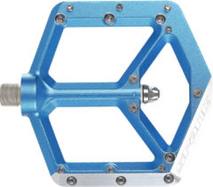 Blauwe Spank - Spike flat pedal 2016 - Pedalen blauw