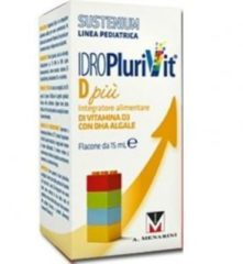 CO.DI.FI.SRL IDROPLURIVIT D gocce GTT SUSTENIUM Integratore alimentare di Vitamina D3 con DHA algale CODIFI