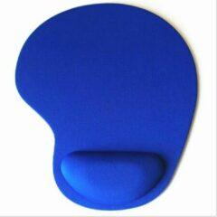 Able & Borret Muismat | Blauw | Ergonomisch | Polssteun | Gel