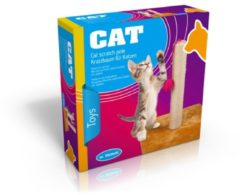 Roze Pets Collection Pet Toys Krabpaal voor kat - met speelbal en touw