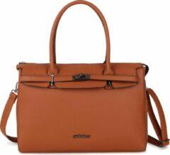 """P-511 Pulcher bags """"PARIS"""" kleur cognac/bruin"""