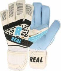 Real Hybrid Aqua Keepershandschoenen Heren - Wit / Lichtblauw / Zwart | Maat: 11