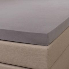 Witte NV Signature Topper Hoeslaken - Signature - Grijs - 160x200 cm - Jersey Stretch - Signature
