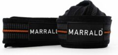 Marrald Lifting Straps - set van 2 - Padded - Anti Slip - fitness cross fit deadlift grip - Zwart Oranje