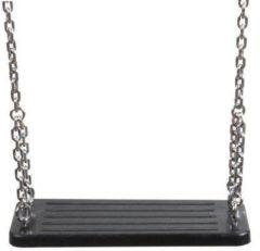 Swing King schommelzitje rubber 45 cm stalen ketting 200 cm zwart