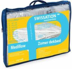 Witte Swissation Cool Cotton Mono Zomerdekbed Maat: 140x220cm