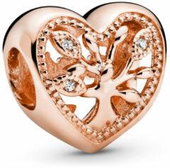 Pandora Rose 788826C01 Hangbedel zilver rosekleurig Openwork Family Tree Heart
