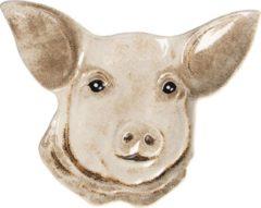 Clayre & Eef Serveerschaal 6CE1142 25*19*2 cm - Meerkleurig Keramiek Presenteerschaal Dienblad Decoratie Schaal