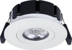 HOFTRONIC Set van 6 LED Inbouwspots Badkamer en Buiten - Napels IP65 8 Watt 2700K dimbaar 360° kantelbaar wit