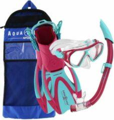 Aqua Lung Sport Urchin Set - Snorkelset - Kinderen - Roze/Turquoise - 25-31