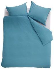 Blauwe Beddinghouse Dekbedovertrek Basic Blue Grey - 240 cm x 200/220 cm