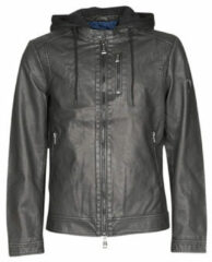 Zwarte Leren Jas Guess VINTAGE ECO-LEATHER JKT