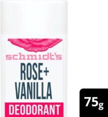 Schmidt's Rose + Vanilla Natural Deodorant Stick 75 g