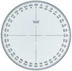 Transparante Kompasroos Aristo 360� 12 cm glashelder plexiglas