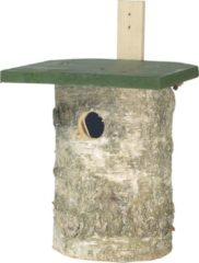 Cj Wildlife Koolmees berken nestkast - Groen/Wit - 27,5 x 18 x 30 cm