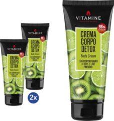 L'erboristica Vitamine - Bodylotion kiwi en limoen X2 - set van 2