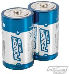 PowerMaster Type D super alkaline batterij LR20, 2 pk.