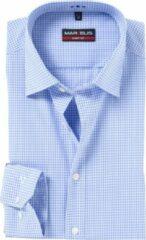 Blauwe Marvelis Strak getailleerd Onbekend Heren Overhemd Maat L