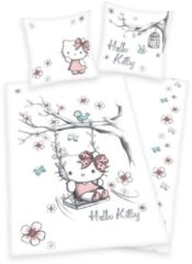Kinderbettwäsche, Hello Kitty, »Swinging Kitty«, mit Katze