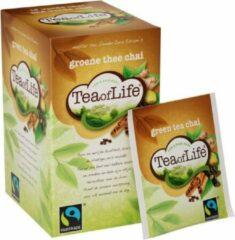 Tea of Life - Groene thee Chai - 80 x 1,75gr
