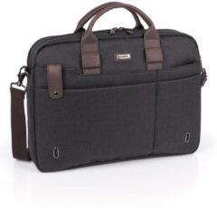 "Grijze GABOL 2 vaks dames briefcase laptoptas 15,6"" MASATER Grijs"
