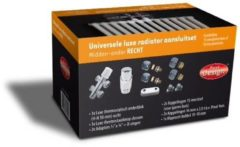 """Zilveren Best-design universele """"luxe"""" radiator aansluitset """"midden onder recht"""" (ds-oranje)"""
