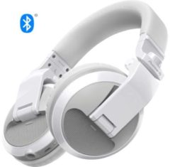 Pioneer DJ HDJ-X5BT Bluetooth DJ Oordopjes Over Ear Vouwbaar, Headset Wit