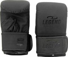 Zwarte Legend Sports Leren zakhandschoenen voor op de bokszak XXL