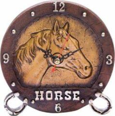 Bruine Kodiak Tafelklok Paard