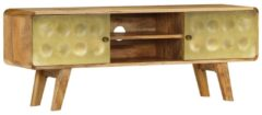 Gouden VidaXL Tv-meubel 120x30x45 cm massief mangohout
