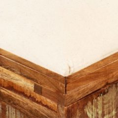 Bruine VidaXL Opslagbankje 80x40x40 cm massief gerecycled hout