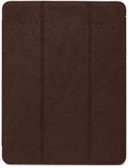 """DECODED Slim Cover iPad Pro 12,9"""" (2020), Hoogwaardig Full-Grain Leren Book Case, Multi-Stand Hoes voor iPad Pro 12,9"""" (2020) [ Kaneelbruin ]"""