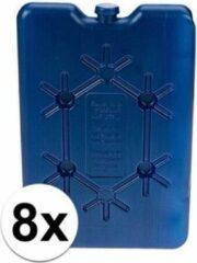 Blauwe Merkloos / Sans marque 8x platte koelelementen 16 cm
