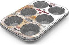 Quttin bakplaat muffins voor 6 porties marmer-look grijs