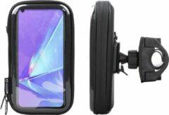 Interphone - Oppo A72 Motorhouder Unicase Telefoonhouder Fiets en Motor Stuur Zwart