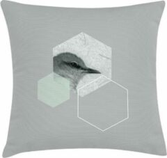 Groene ECO Design FT 009138 Kussen Sring Bird Hexagon 45x4