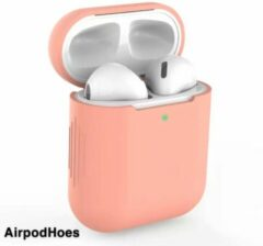 Airpodhoes Siliconen Bescherm Hoes Cover Case Voor Apple AirPods - Zalm Roze